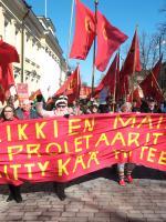 vappu marssi proletariaatti työväenliike mielenosoitus kommunismi