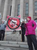 Aktiivimalli alas Anna Koskela eduskuntatalo mielenosoitus